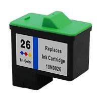 Remanufactured Lexmark 26, 10N0026 ink cartridge, color