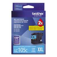 Brother LC105C original ink cartridge, super high yield, cyan