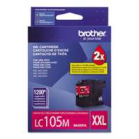 Brother LC105M original ink cartridge, super high yield, magenta