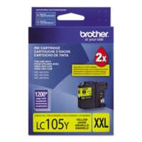 Brother LC105Y original ink cartridge, super high yield, yellow