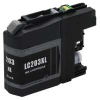Compatible Brother LC203BK ink cartridge, high yield, black