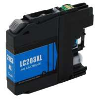 Compatible Brother LC203C ink cartridge, high yield, cyan