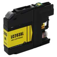 Compatible Brother LC203Y ink cartridge, high yield, yellow