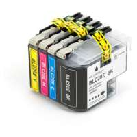 Compatible Brother LC20E ink cartridges, super high yield, 4 pack