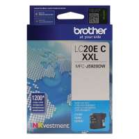 Genuine Original Brother LC20EC ink cartridge - super high yield cyan