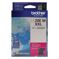 Genuine Original Brother LC20EM ink cartridge - super high yield magenta
