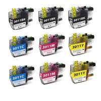 Compatible inkjet cartridges Multipack for Brother LC3011 - 9 pack