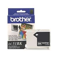 Brother LC51BK original ink cartridge, black