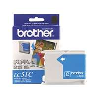 Brother LC51C original ink cartridge, cyan