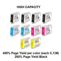 Compatible Brother LC51 ink cartridges, 10 pack