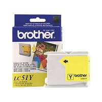 Brother LC51Y original ink cartridge, yellow