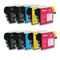 Compatible Brother LC61 ink cartridges, 10 pack
