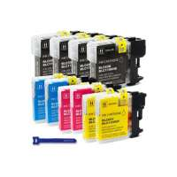 Compatible Brother LC65HY ink cartridges, high yield, 10 pack