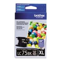 Brother LC75BK original ink cartridge, high yield, black