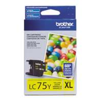 Brother LC75Y original ink cartridge, high yield, yellow