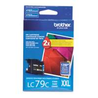 Brother LC79C original ink cartridge, super high yield, cyan