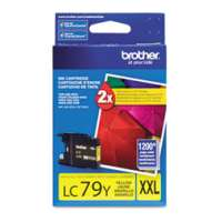 Brother LC79Y original ink cartridge, super high yield, yellow