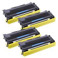 Compatible Brother TN360 toner cartridges, high yield, 4 pack