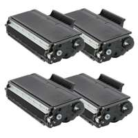 Compatible Brother TN580 toner cartridges, high yield, 4 pack