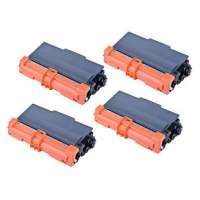 Compatible Brother TN750 toner cartridges, high yield, 4 pack