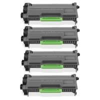 Compatible Brother TN850 toner cartridges, 8000 each pages, high yield, toner cartridges - black - 4-pack