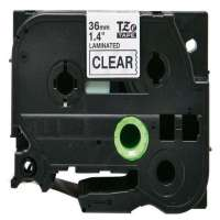 Compatible Brother TZe-161 label tape, 36 mm, black on clear