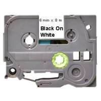 Compatible Brother TZe-211 label tape, 6 mm, black on white