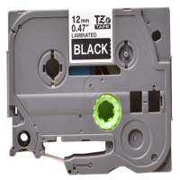 Compatible Brother TZe-335 label tape, 12 mm, white on black