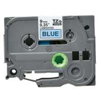 Compatible Brother TZe-521 label tape, 9 mm, black on blue