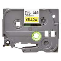Compatible Brother TZe-621 label tape, 9 mm, black on yellow