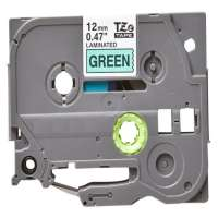 Compatible Brother TZe-731 label tape, 12 mm, black on green