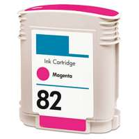 Remanufactured HP 82XL, C4912A ink cartridge, high yield, magenta