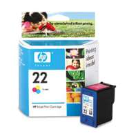 HP 22, C9352AN OEM ink cartridge, tri-color