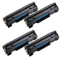 Remanufactured Canon 125 toner cartridges, 4 pack