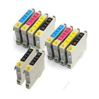 Compatible value pack of ink cartridges for Canon BCI-21 / BCI-24 - 12 pack