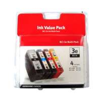 Canon BCI-3 OEM ink cartridges, 4 pack