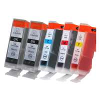 Compatible Canon BCI-3 ink cartridges, 5 pack