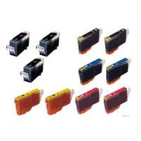 Compatible value pack of ink cartridges for Canon BCI-3 / BCI-6 - 11 pack