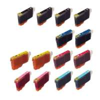 Compatible Canon BCI-6 ink cartridges, 14 pack