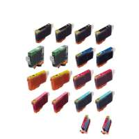Compatible value pack of ink cartridges for Canon BCI-6 - 18 pack