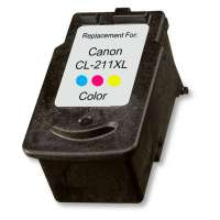 Remanufactured Canon CL-211XL ink cartridge, high yield, color
