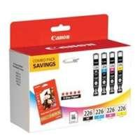 Canon CLI-226 OEM ink cartridges, 4 pack