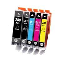 Compatible printer ink cartridges Multipack for Canon CLI-281 XXL / PGI-280 XXL - 5 pack