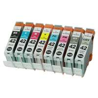 Compatible Canon CLI-42 ink cartridges, 8 pack