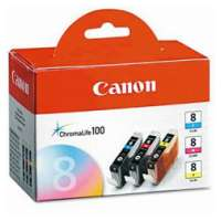 Genuine OEM Original Canon 0621B016 (CLI-8) Multipack - 3 pack