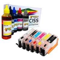 Continuous Ink Cartridges (CIC) for Canon PGI-270 / CLI-271 with refill ink, 6 pack