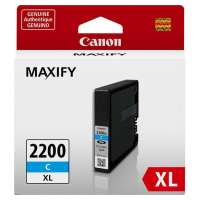 Canon PGI-2200C XL OEM ink cartridge, high yield, cyan
