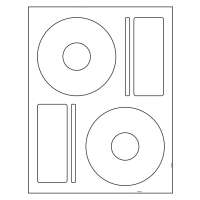 CD Labels - Laser CD labels / Inkjet Matte White CD Label (50 sheets 100 CD Labels) Full Coverage 22mm