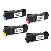 Remanufactured Dell 2150, 2155 toner cartridges, 4 pack