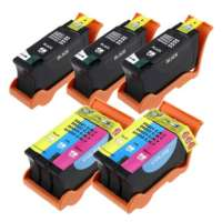Compatible Dell Series 24 ink cartridges, high yield, 5 pack